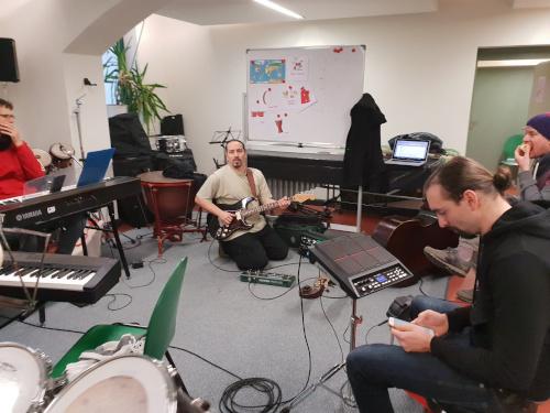 SOE band rehears